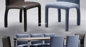 تحميل موديلات  330 Table & chair- طاولة-وكرسي Natuzzi italia