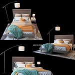 تحميل موديلات  290 Nixon Upholstered Panel سرير bed
