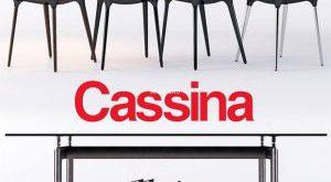 تحميل موديلات  332 Table & chair- طاولة-وكرسي Cassina Caprice LC6 s 2011  vray