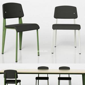 تحميل موديلات  335 Table & chair- طاولة-وكرسي STANDARD SR    PROUVÉ RAW