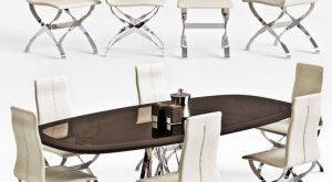 تحميل موديلات  338 Table & chair- طاولة-وكرسي Visionnaire Dakar+Spider