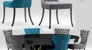 تحميل موديلات  353 Table & chair- طاولة-وكرسي vittoriafrigerio Adda Capitonne