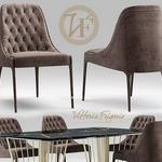 تحميل موديلات  355 Table & chair- طاولة-وكرسي vittoriafrigerio Poggi High capitonne
