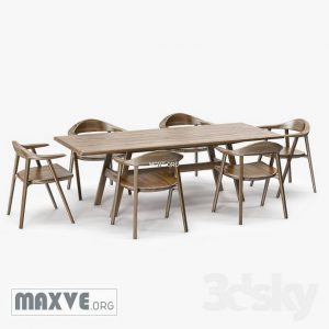 تحميل موديلات  356 Table & chair- طاولة-وكرسي Mantis Side  & Kant