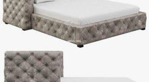 تحميل موديلات  318 Restoration Hardware Tribeca Tufted Leather Platform سرير bed