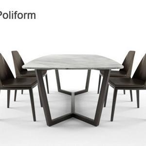 تحميل موديلات  357 Table & chair- طاولة-وكرسي poliform concorde
