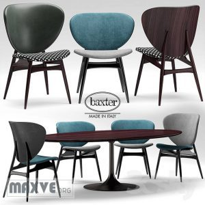 تحميل موديلات  358 Table & chair- طاولة-وكرسي baxter ALVARO