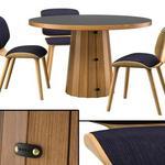 تحميل موديلات  359 Table & chair- طاولة-وكرسي Container  Bodhi with Linoak Top