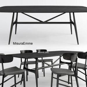 تحميل موديلات  360 Table & chair- طاولة-وكرسي misuraemme