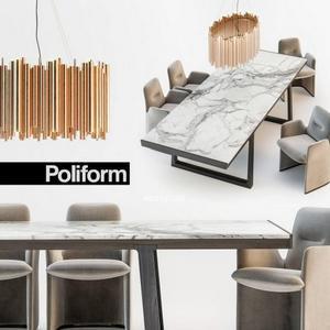 تحميل موديلات  363 Table & chair- طاولة-وكرسي Poliform GUEST  OPERA