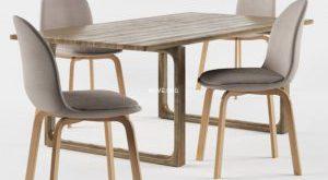 تحميل موديلات  364 Table & chair- طاولة-وكرسي Fritz Hansen Sammen  and the