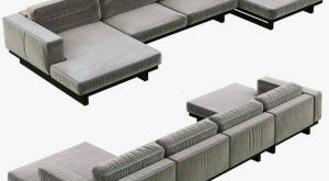 327 تحميل موديلات كنب Restoration Hardware Durrell Leather U Chaise Sectional