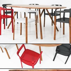 تحميل موديلات  369 Table & chair- طاولة-وكرسي Shanghai Dining