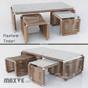 تحميل موديلات  371 Table & chair- طاولة-وكرسي FLEXFORM Tindari Products