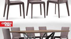 تحميل موديلات  376 Table & chair- طاولة-وكرسي cattelan italia AURELIA