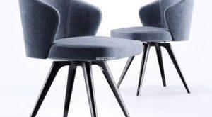 تحميل موديلات  772 Minotti_Leslie_GirevoleBase  Chair كرسي
