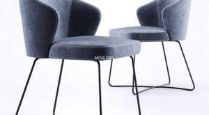 تحميل موديلات  773 Minotti_Leslie_SteelBase Chair كرسي