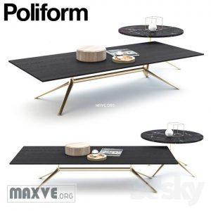 تحميل موديلات  385 Table & chair- طاولة-وكرسي POLIFORM MONDRIAN COFFEE
