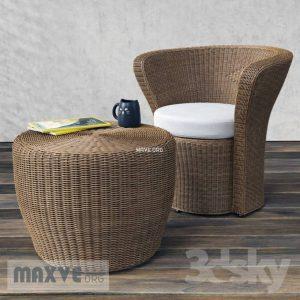 تحميل موديلات  386 Table & chair- طاولة-وكرسي Easy