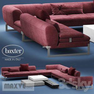 370 تحميل موديلات كنب BAXTER VIKTOR Corner sectional leather