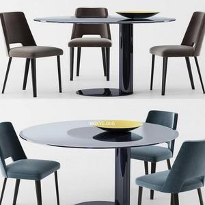 تحميل موديلات  390 Table & chair- طاولة-وكرسي gallottiradice