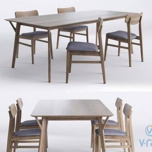 تحميل موديلات  395 Table & chair- طاولة-وكرسي and