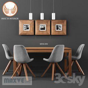 تحميل موديلات  397 Table & chair- طاولة-وكرسي