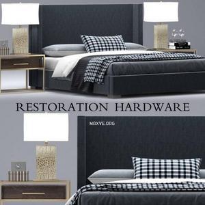 تحميل موديلات  379 RH  estoration hardware shelter سرير bed