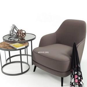 تحميل موديلات  407 Table & chair- طاولة-وكرسي liz