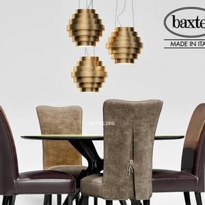 تحميل موديلات  411 Table & chair- طاولة-وكرسي Baxter