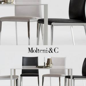 تحميل موديلات  424 Table & chair- طاولة-وكرسي Molteni Dart