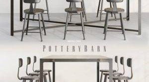 تحميل موديلات  425 Table & chair- طاولة-وكرسي pottery barn loft Concept