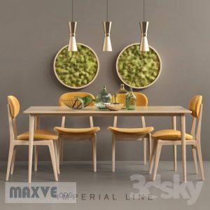 تحميل موديلات  426 Table & chair- طاولة-وكرسي DINING SET