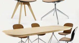 تحميل موديلات  429 Table & chair- طاولة-وكرسي boConcept Adelaide&Ottawa