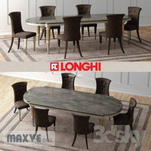 تحميل موديلات  433 Table & chair- طاولة-وكرسي Longhi LaytonMarble 2011 Vray1.5
