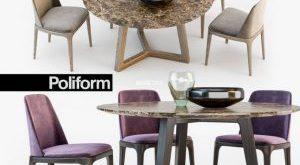 تحميل موديلات  443 Table & chair- طاولة-وكرسي Poliform GRACE  CONCORDE  set02 3ds Max2011