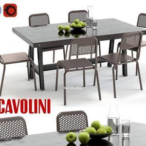 تحميل موديلات  450 Table & chair- طاولة-وكرسي Scavolini
