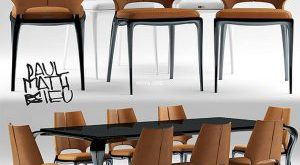 تحميل موديلات  462 Table & chair- طاولة-وكرسي Paul Mathieu