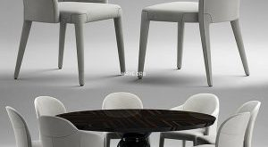 تحميل موديلات  463 Table & chair- طاولة-وكرسي Paul Mathieu