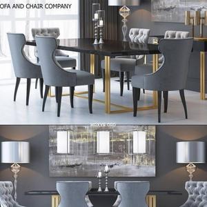 تحميل موديلات  464 Table & chair- طاولة-وكرسي