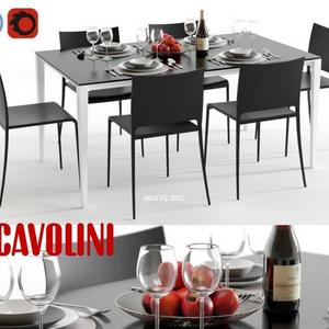 تحميل موديلات  467 Table & chair- طاولة-وكرسي Scavolini timeless and mya