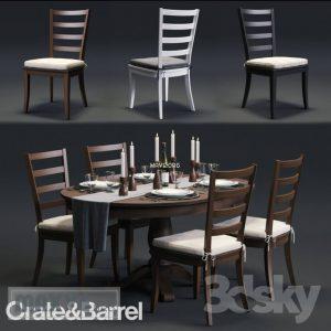تحميل موديلات  471 Table & chair- طاولة-وكرسي Harper