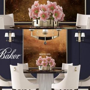 تحميل موديلات  472 Table & chair- طاولة-وكرسي BAKER DINING  2 2012