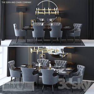 تحميل موديلات  479 Table & chair- طاولة-وكرسي