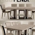 تحميل موديلات  238 Table & chair- طاولة-وكرسي FENDI CASA