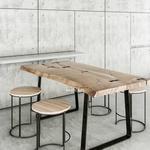 تحميل موديلات  486 Table & chair- طاولة-وكرسي Concrete wood