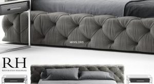 تحميل موديلات  495 Rh Restoration hardware soho سرير bed