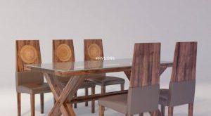 تحميل موديلات  239 Table & chair- طاولة-وكرسي DINING  WITH GLASS TOP TAHITI 8