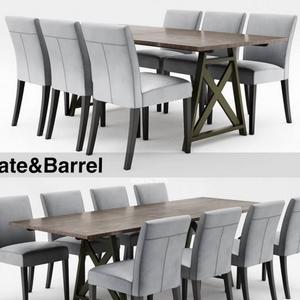 تحميل موديلات  493 Table & chair- طاولة-وكرسي Crate&Barrel  and