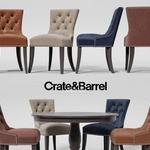 تحميل موديلات  498 Table & chair- طاولة-وكرسي Crate&Barrel  Cecelia Dining  Avalon 45 Black Roun  Extension Dining